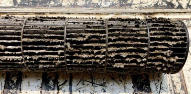 Dirty Air Conditioning Coil Cleaning
